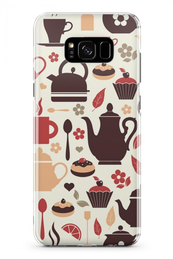 Samsung Galaxy S8 Kılıf Tea Time Serisi Joanna