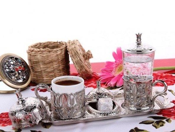 Osmanlı Motifli Tek Kişilik Kahve Fincan Seti