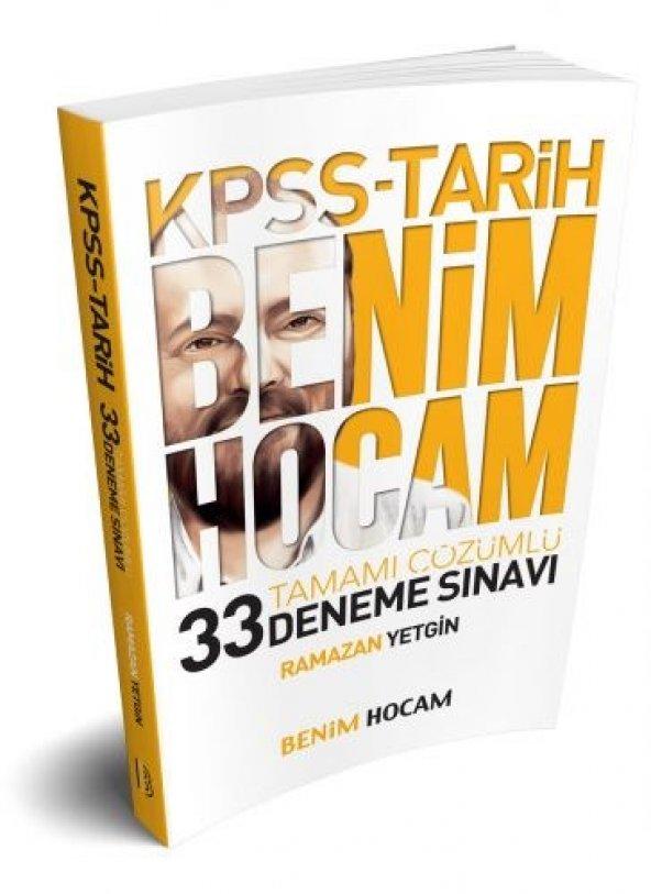 Benim Hocam Yayınları KPSS Tarih Tamamı Çözümlü 33 Deneme Sınavı