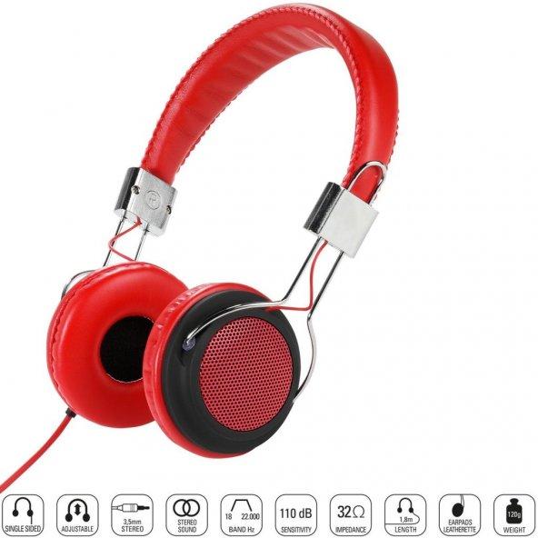 Vivanco 34880-Street Style X-Bass Kulaklık-Kırmızı