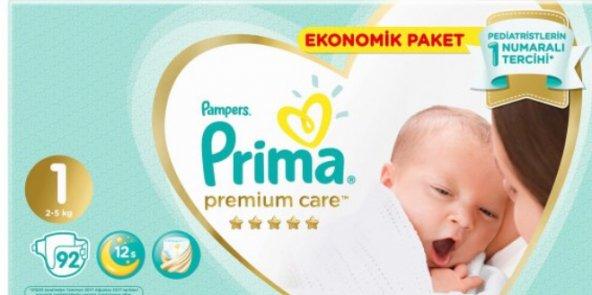 Prima Premium Care Yenidoğan 1 Beden (2-5 Kg) 92 Adet Fırsat Paketi