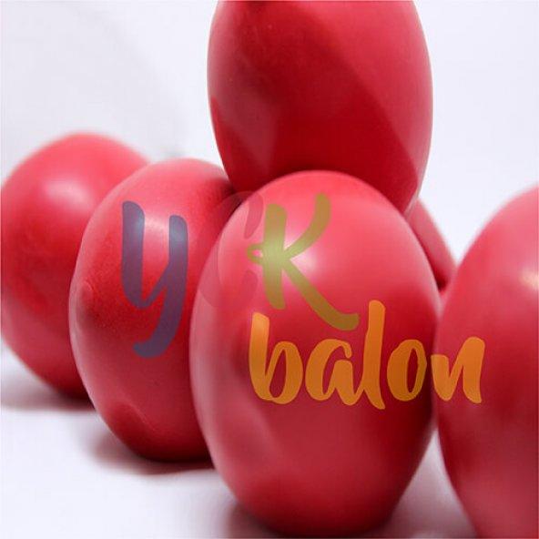 25 Adet Kırmızı Renkli Baskısız Balon