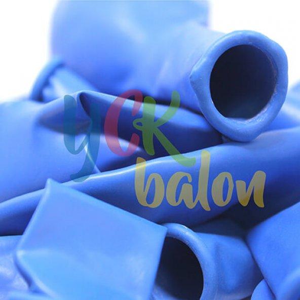 50 Adet Koyu Mavi Baskısız Balon