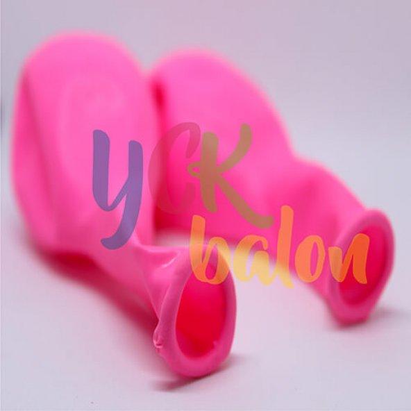 50 Adet Pembe Renkli Baskısız Balon