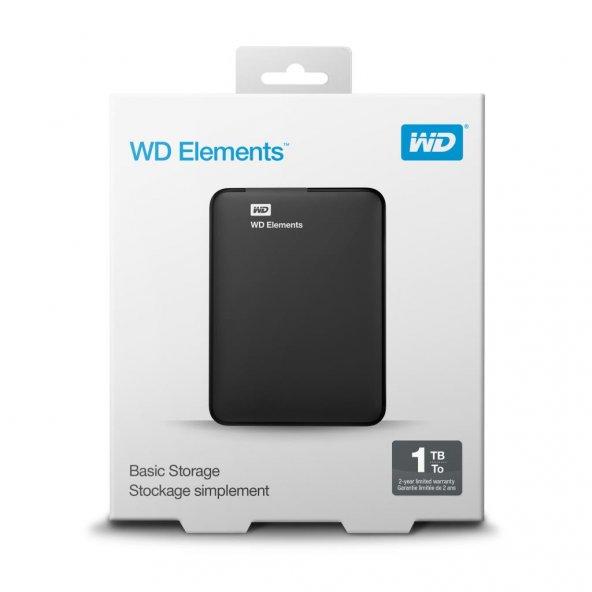 WD 1TB 2.5 USB3.0 WDBUZG0010BBK ELEMENTS SİYAH