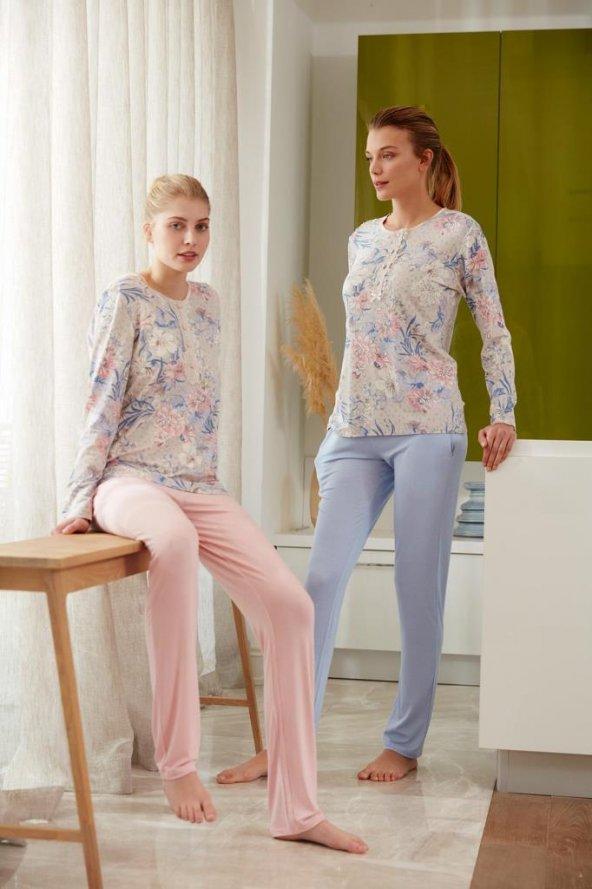 Feyza 3479 Bayan Klasik Pijama Takımı 19y