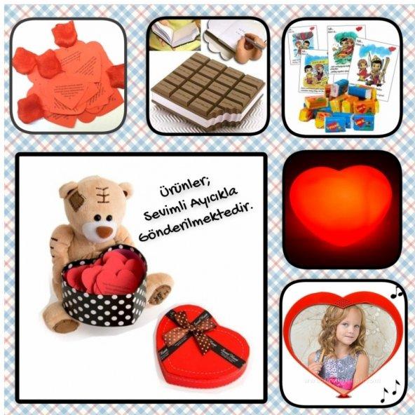 Romantik Ürünlerle Dolu Bir Kutu Hediye-4