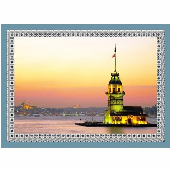 50 cm X 70 cm Tablo Halı - Kız Kulesi