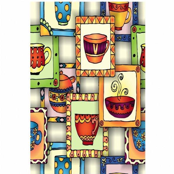 Dekoratif Desenli Mutfak Halısı Model-7 ( 80 cm X 150 cm )
