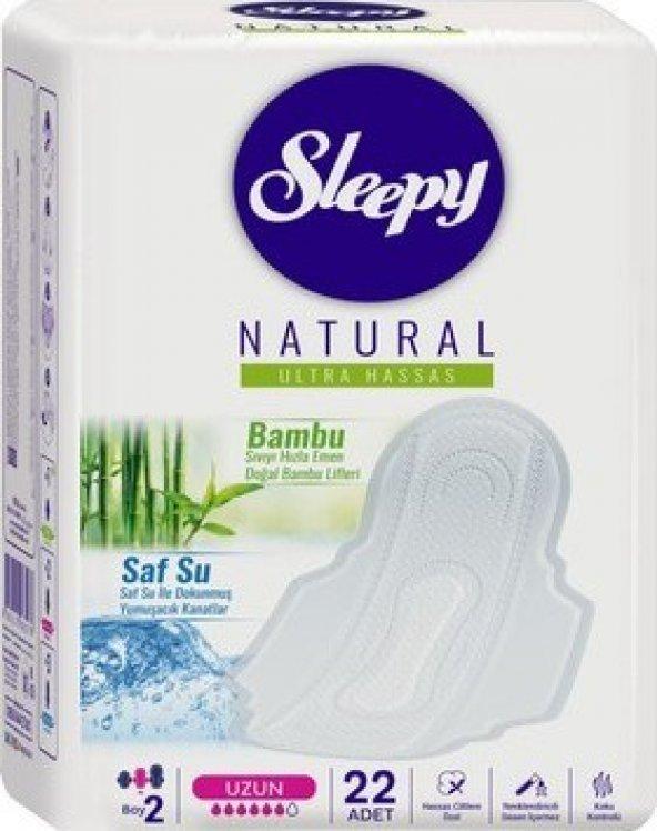 Sleepy Natural Ultra Hassas Hijyenik Ped Uzun (22 Adet)