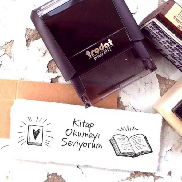 Kitap Okumayı Seviyorum Motto Kaşe - M3
