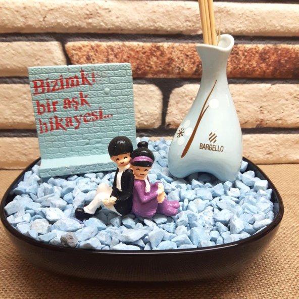 Romantik Aşıklar Temalı Oda Parfümlü Minyatür Bahçe M-11