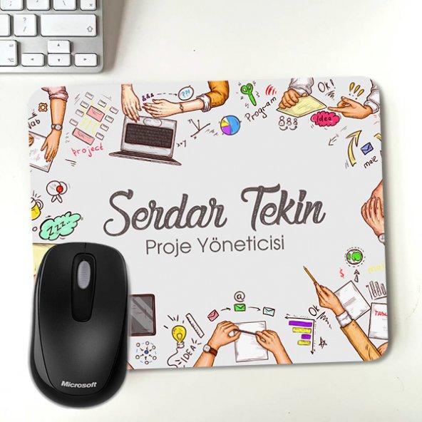 Kİşiye Özel Tasarım İsim Yazılı Mousepad