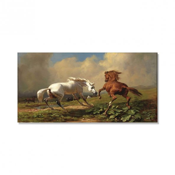 Atlar Kanvas Tablosu 50 cm x 100 cm