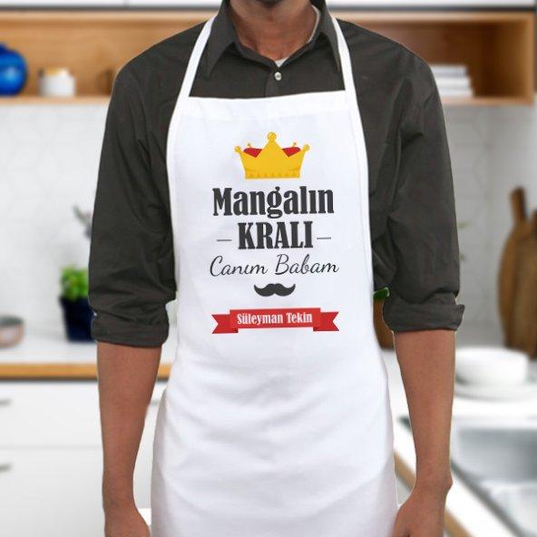 Kişiye Özel Mangalın Kralı Babam Mutfak Önlüğü