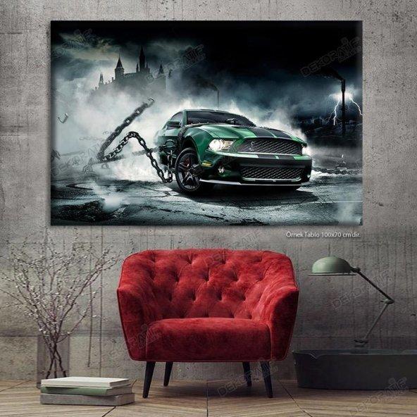 Araba Motifli Siyah-Beyaz Tablo 40x60 cm