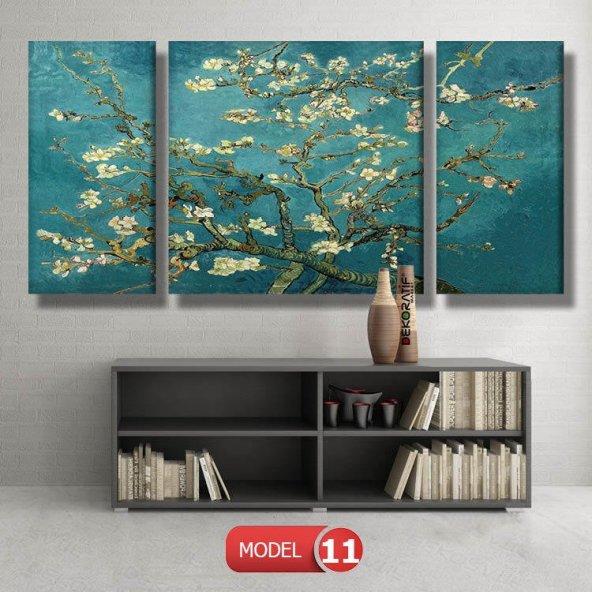 çiçek açan badem ağacı -vincent van gogh tablosu MODEL 10 - 129x75 cm