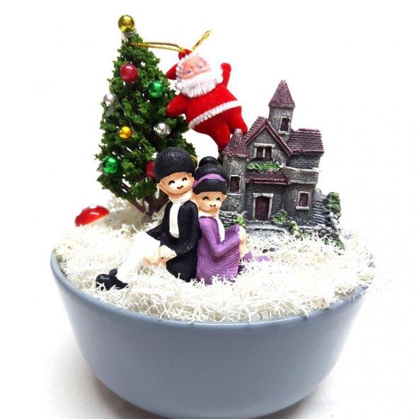 Kırmızı Kutuda Romantik Kış Masalı Minyatür Bahçe Y-05