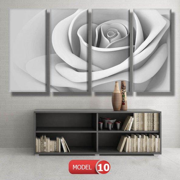 kirli beyaz gül tablosu MODEL 12 - 123x90 cm