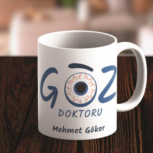 Kişiye Özel Göz Doktoru Tasarımlı Kupa Bardak