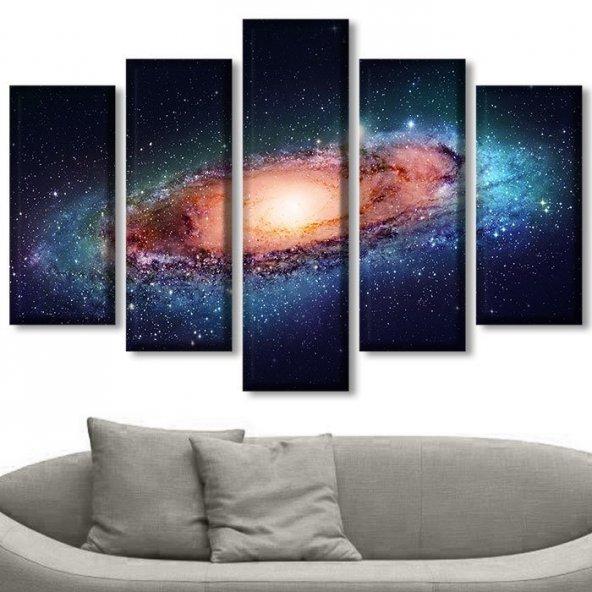 Galaksi Uzay Parçalı Tablo