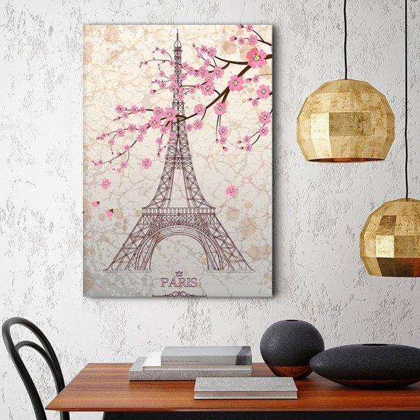 Paris Eyfel Kulesi Tablosu - Dikey Tablo 60 x 90 cm