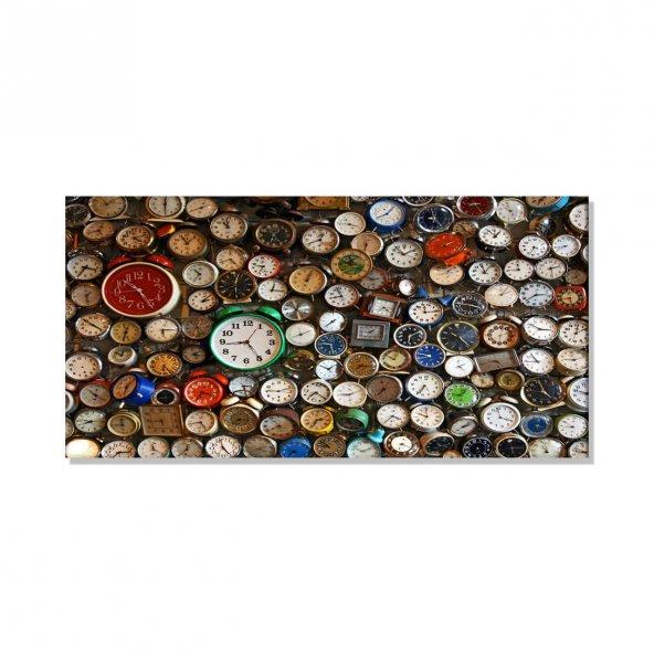 Saatler   Kanvas Tablosu 30 cm x 60 cm