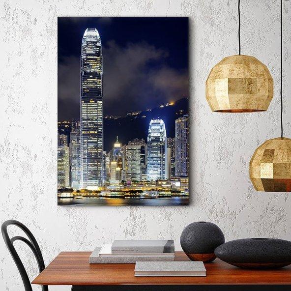 Şehir Kule Mimari Tablosu - Dikey Tablo 50 x 100 cm