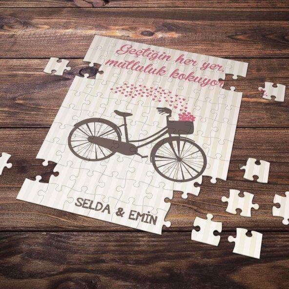 Kişiye Özel Romantik Tasarımlı Puzzle -P25
