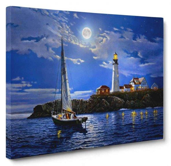 Romantik Deniz Feneri Tablosu 60 x 90 cm