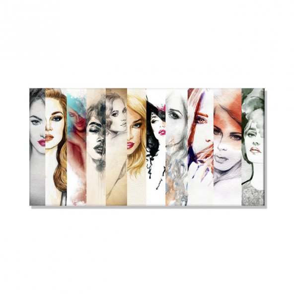 Yağlı Boya Kadın Resimleri  Kanvas Tablosu 100 cm x 200 cm