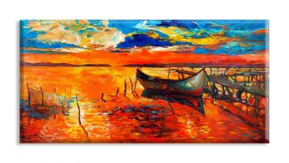 yelkenli tekne modelleri duvar tabloları 70 cm x 100 cm