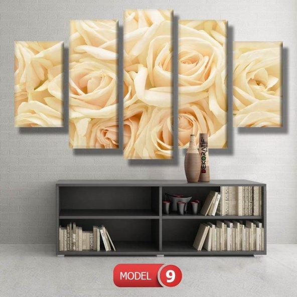 krem rengi gül   resimli kanvas tablo MODEL 15 - 96x90 cm