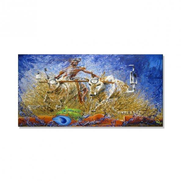 Afrika Temalı Kanvas Tablo 80 cm x 160 cm