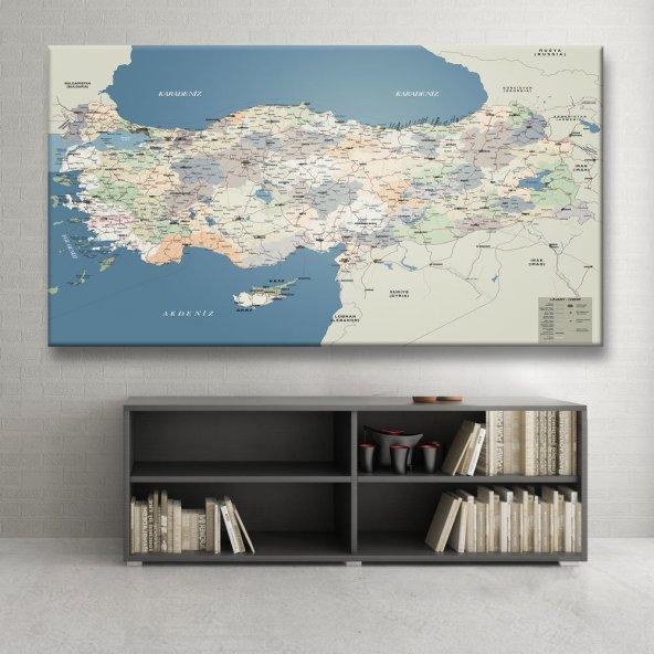 Türkiye Haritası Tablosu 30 cm x 60 cm