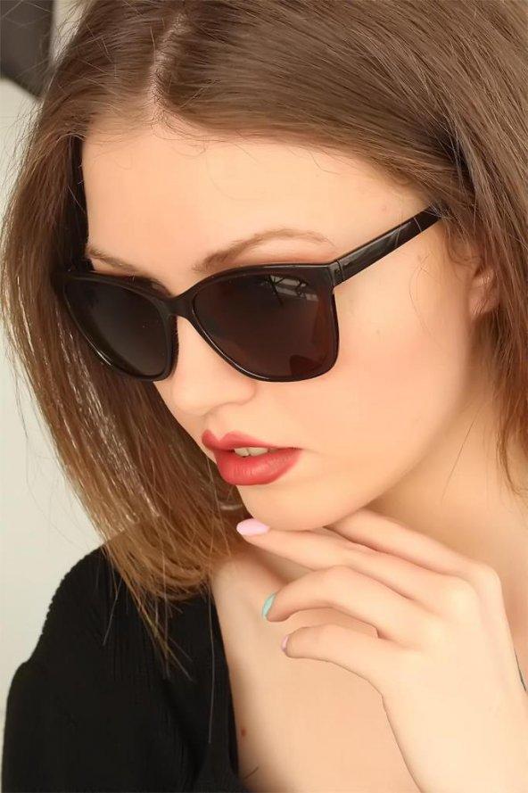 Kahverengi Çerçeveli Clariss Bayan Güneş Gözlüğü