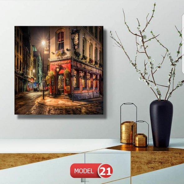 The Glassblower Cafe resimli  Duvar Tablosu 25 cm x 25 cm