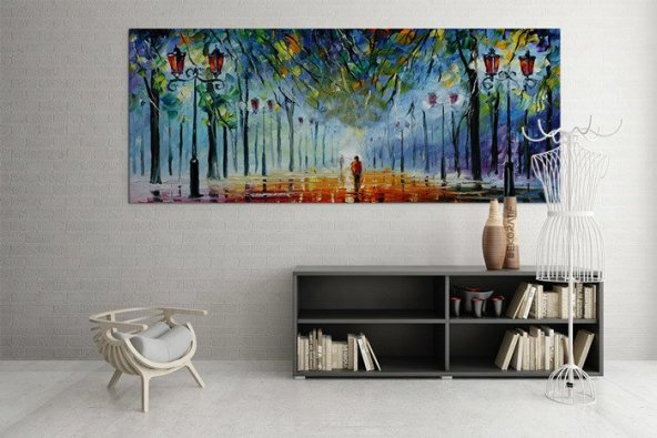 Yağlıboya Görünümlü Led Işıklı Kanvas Tablo 60 cm x 120 cm