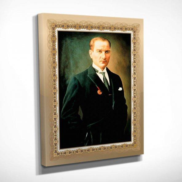 Ofis için Atatürk Portresi Kanvas Tablosu 50x70 cm