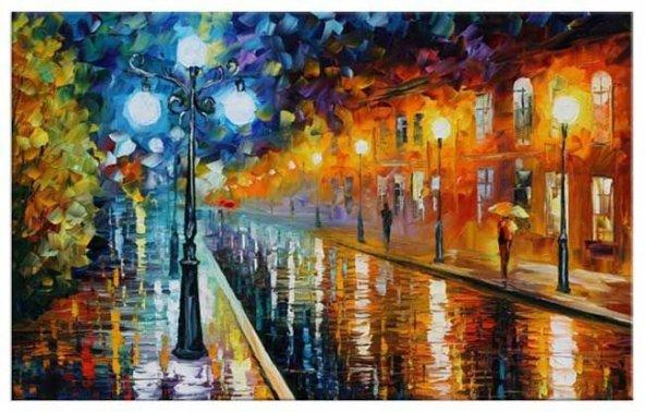 Boş Sokaklar Yağlıboya Reproduksiyon Yatay Kanvas Tablo 50 cm x 70 cm