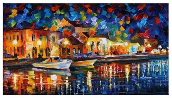 Duran Tekneler Yağlıboya Reproduksiyon Yatay Kanvas Tablo 40x60 cm