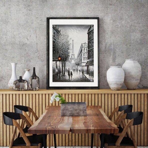 AHSAP-CERCEVELI-TABLO-PARIS-EYFEL-TABLOSU 50 cm x 75 cm