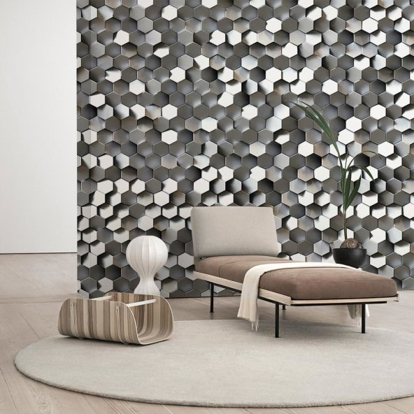Gümüş Desenli Duvar Kağıdı - Seçenekli Ürün 300x150 cm