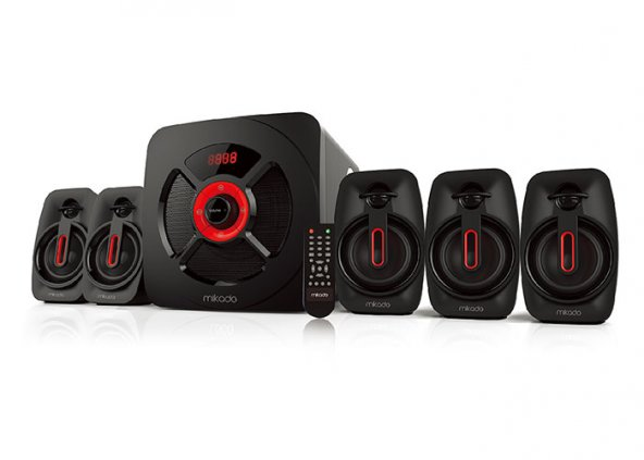 Mikado MD-730BT 5+1 30W+8W*5 Usb+SD+FM Destekli Bluetooth Speaker