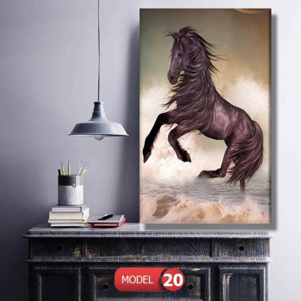 kahverengi at tablosu 80 cm x 160 cm