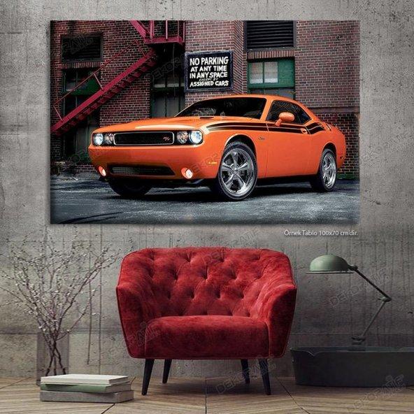Led Işıklı Kanvas Tablo - ledli klasik araba tablo 80 x 125 cm