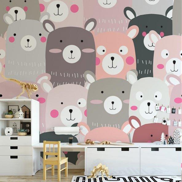 Çocuk Odası Duvar Kağıdı - Ayılar - Seçenekli Ürün 600x300 cm