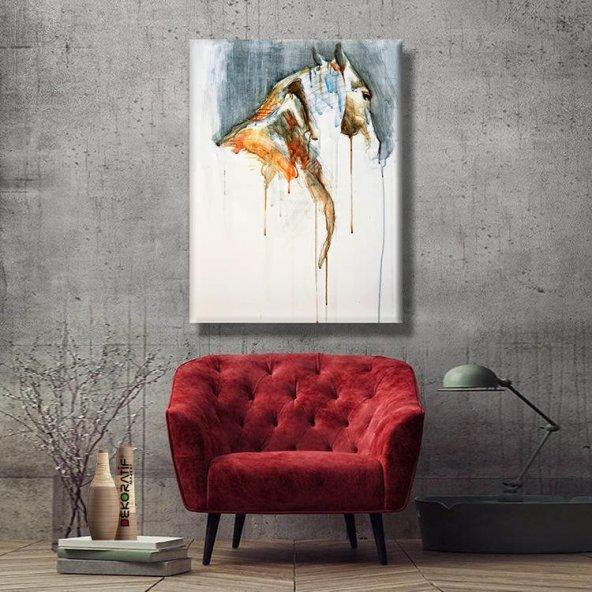 yağlı boya görünümlü at tablosu 70x50 cm