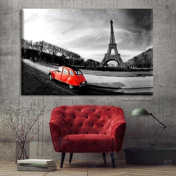 Işıklı Tablo - Siyah Beyaz Paris Eyfel Kulesi Tablosu 50x70 cm