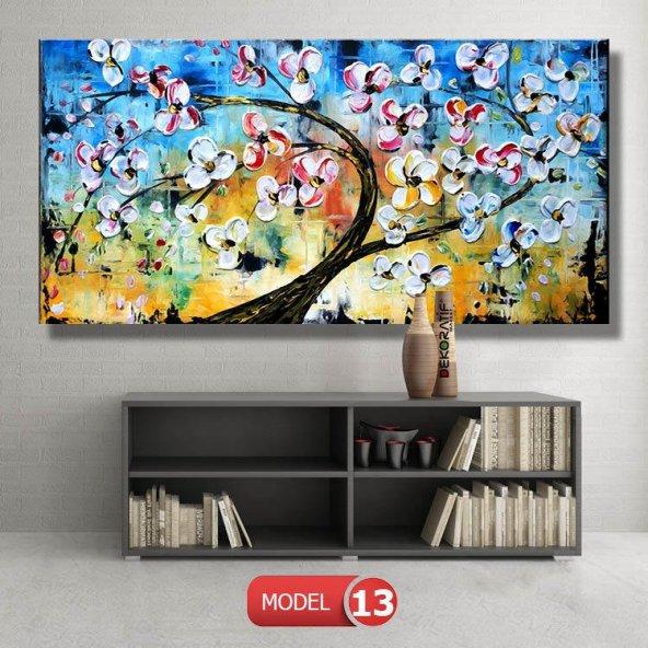 mavi tonlu ağaç tablo modelleri
